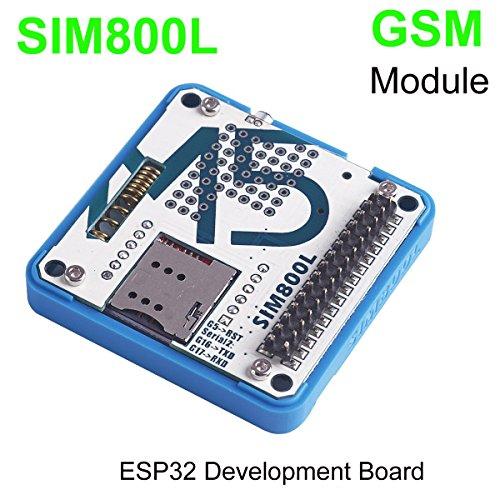 MakerFocus M5Stack ESP32 Development Board GSM/GPRS SIM800L Module Stackable IoT with MIC, Antenna and 3.5mm Headphones Jack for ESP32 Arduino Development Board