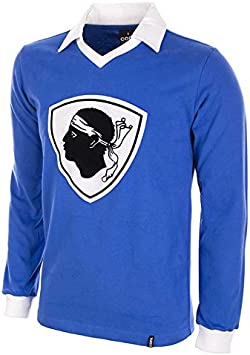 Bastia Retro Fu/ßball Trikot 1977//78 Langen /Ärmeln COPA