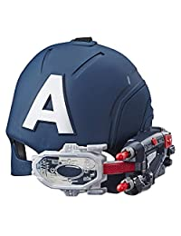 Marvel Avengers Captain America Scope Vision Helmet with Projectiles for Role Play Dress Up