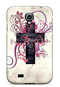 Tpu Phone Case Shockproof Scratcheproof Abstract Cross Art Hard Case Cover For Galaxy S4