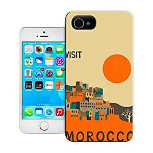 THYde Unique Phone Case Exquisite art pattern Morocco Travel Poster Hard Cover for iPhone 4/4s cases-buythecase ending