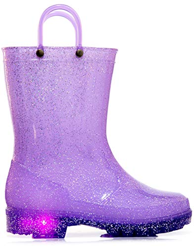 Baby Shoes Light Up Girls Baby Toddler Glitter Strap Canvas Sneaker Tennis Shoe Pink Purple Clothing, Shoes & Accessories