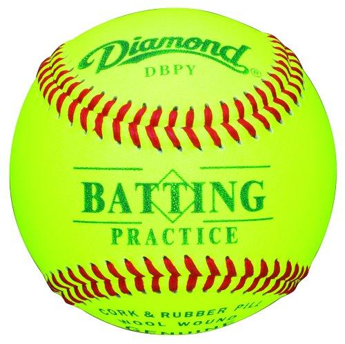 Diamond DBPY Batting Practice Baseballs (12 pack, Optic Yellow)