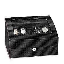 JQUEEN Quad Automatic Watch Winder Six Storage Case