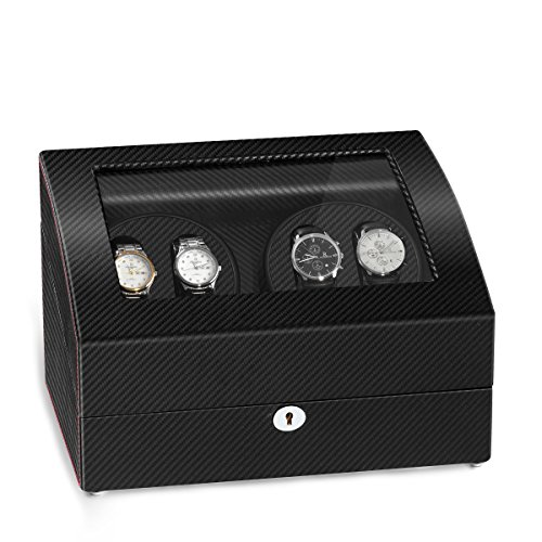 JQUEEN Quad Automatic Watch Winder Six Storage Case (Watch Winders Rolex)