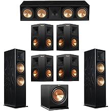 Klipsch 7.1 Black Ash System with 2 RF-7 III Floorstanding Speakers, 1 RC-64 III Center Speaker, 4 Klipsch RP-250S Surround Speakers, 1 Klipsch R-112SW Subwoofer