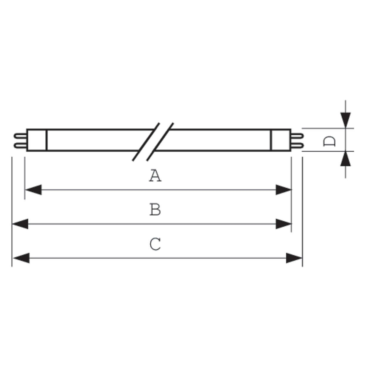 /PHILIPS L/ámpara fluorescente TL Mini Pro 8/W 827/