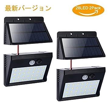 Amazon co jp: Fypo 高輝度 ソーラーライト 28 LED 人感センサー パネル