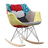 Fine Mod Imports FMI10099-colored Ginger Rocker Arm Chair