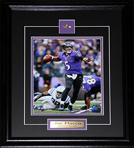 0461a3e551f Amazon.com : Midway Memorabilia Joe Flacco Baltimore Ravens 8x10 Frame :  Sports & Outdoors