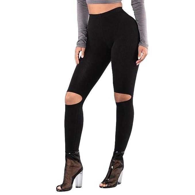 Pantalones Leggings Vestir Deportivos Yoga para Mujer Otoño Invierno 2018  PAOLIAN Pantalone Running Fitness Moda Cintura Alta Jogger de Chandal  Pantalones ... 9afb00dc734d