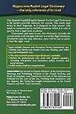Spanish-English/English-Spanish Pocket Legal Dictionary/Diccionario Juridico de Bolsillo Espanol-Ingles/Ingles-Espanol