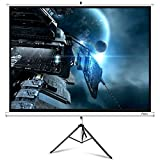 ELEPHAS Portable Projector Screen with Stand, 100 Inch 4:3 Indoor & Outdoor Pull Down Projection Screen with Solid Connecting Knob & Tripod Stand (1.1 Gain, Wrinkle-Free)
