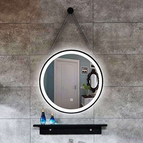JKFZD Touch Round Bathroom Mirror Diameter 500mm 600mm Wall Mounted Makeup Mirror -