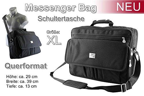 Vuelo compañero Messenger Bolso Bandolera de trabajo para–Bolsa para hombre negro Modelo 2 Modelo 2