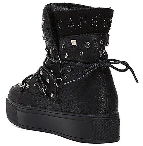 Monboot Cafè Noir FB903 scarpe donna con rivetti strass e borchie 38