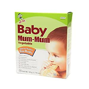 Amazon.com : Baby Mum-Mum Rice Rusks, Vegetable 24 ea