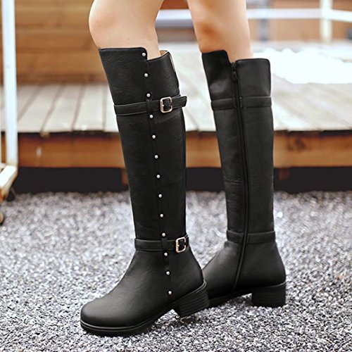 AIYOUMEI Women's Classic Boot Black rb2rHZ5Je