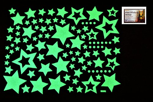 Bb Set Farm (PertidStar Glow In The Dark Stars Wall Stickers Star Sky for Starry Sky, Perfect For Kids Bedding Room or Birthday Gift ,Beautiful Wall Ceiling Decals Perfect For Baby Nursery Bedroom Decor,Set 03)