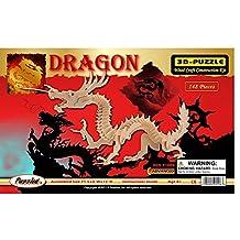 Puzzled 3-D Dragon 148 Piezas de Madera (No. 1506)