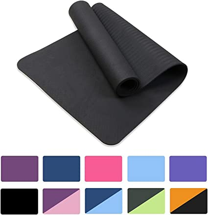 Amazon Com Attraction Design Yoga Mat Non Slip Exercise Mat Extra Thick Workout Mat For Yoga Eco Friendly Exercise Yoga Mat High Density Fitness Pilates Mat With Carrying Strap 72 X 24 X 6mm