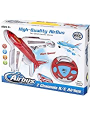 Air Airbus RC With Remote Control Airliner Plane for Unisex - Multi Color
