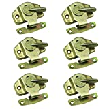 Echaprey Iron Color-zinc Plating Dining Table Lock Buckle Training Table Locks Connectors Hardware Accessories (6Pcs)