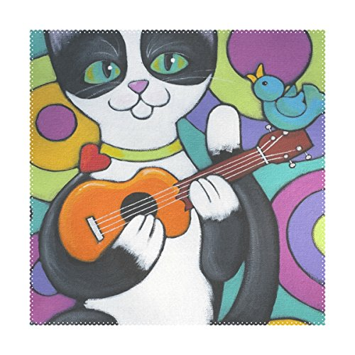 Tuxedo Dining Table Set - La Random Tuxedo Cat Placemats Table Place Mat for Kitchen Dining Room Polyester 12 x 12 Inches Set of 4 Pieces