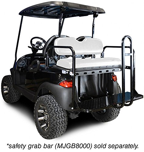 Madjax 01-002 Genesis 150 Rear Flip Seat Kit for 2004-Up Club Car Precedent Golf Carts White Cushions