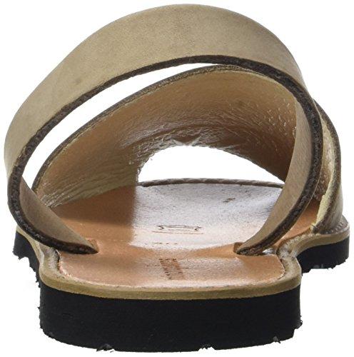Minorquines Avarca - Sandalias de Talón Abierto Unisex Adulto Beige (Costa1)
