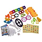 EnjoyShop 158 pcs Magical Magnetic Construction Building Blocks Smooth Interface and Good Abrasion Resistance for Durability