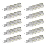 Homyl 10pcs 12W Bright LED G8.5 Corn Bulb Lamp Light Energy Saving Bulb White 6000K