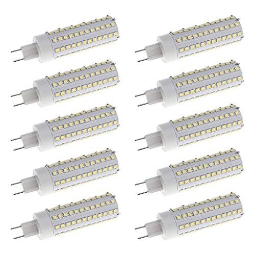 Homyl 10pcs 12W Bright LED G8.5 Corn Bulb Lamp Light Energy Saving Bulb White 6000K by Homyl