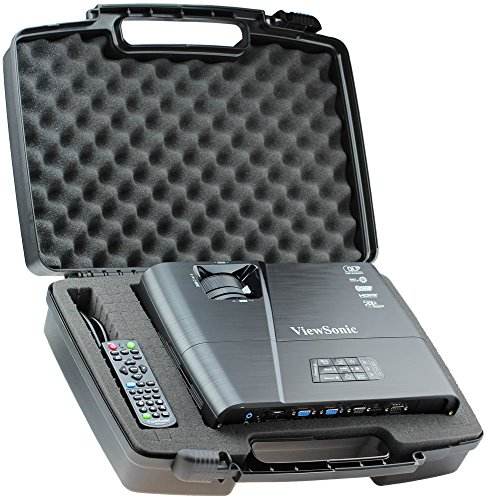 Skywin Portable Travel Hard Case for ViewSonic PJD5155 3300 Lumens SVGA HDMI Projector by Skywin