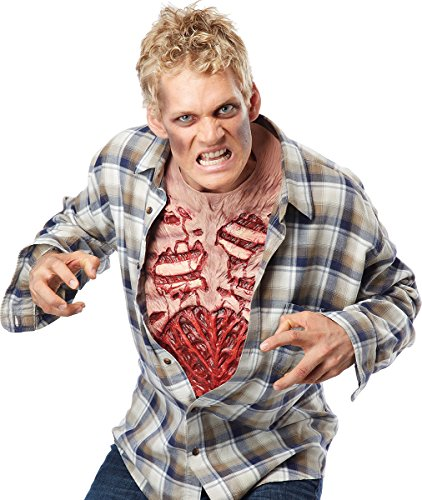 California Costumes Men's Zombie Chest, Flesh/red, One Size ()