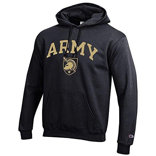 Elite Fan Shop Army Knights Hooded Sweatshirt Black - XL