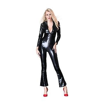 Xingjo Lencería Mujer, Mujer Charol Brillante Bodysuit Ropa De ...