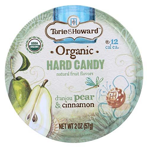 Cinnamon Pears - D'Anjou Pear & Cinnamon Organic Hard Candy 2 Oz By Torie & Howard - Tins (Pack of 8)