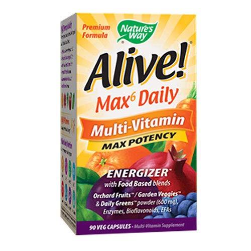 (Nature's Way, Multivitamin Max Potency Alive, 90 Veggie Capsules)