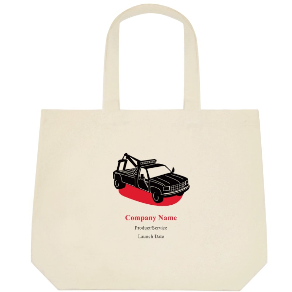 Amazon com: Vistaprint Red Tow Truck Deluxe Tote Bags: Beauty