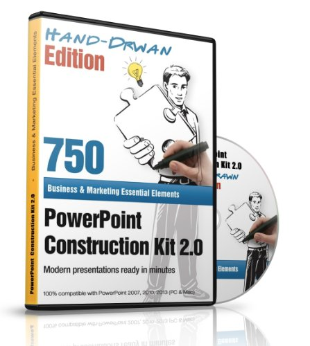 PowerPoint Construction Kit 2.0 - Hand-drawn Edition - 750+ Business & Marketing Essential Elements for PC & Mac - Hand Drawn Plans