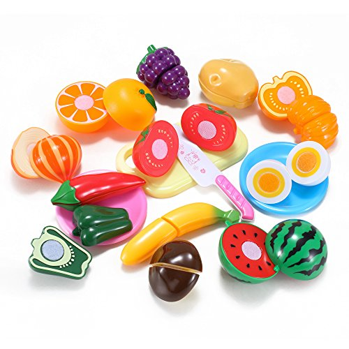 Kitchen Fun Cutting Fruits & Vegetables Food Playset for Kids (Kitchen Toy Fruit compare prices)