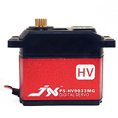 JX Servo PS-HV9033MG High-Voltage, Metal Gear, Analog Servo for 1/5 and Large Scale ()
