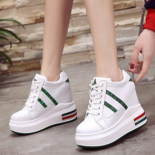scarpe GTVERNH super a femmina 12cm libero 10 colori la corrisponde green tutto sportive spillo in primavera tacchi scarpe le 36 spesse tempo maggiore i URqxrUFTwO