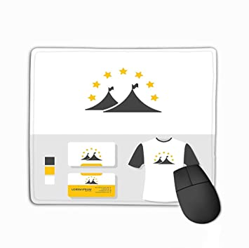 Gaming Mouse Pad Oblong Shaped Mouse Mat 11.81 X 9.84 Inch ...