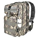 CVLIFE Outdoor Tactical Backpack Military Rucksacks for Camping Hiking Waterresitant Medium Packs (ACU)