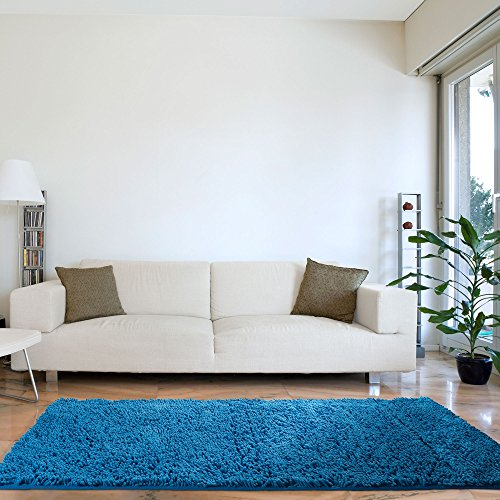 Lavish Home High Pile Carpet Shag Rug, 30 by 60-Inch, Blue