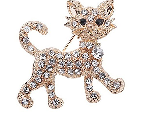 Three Dimensional Cat Style Brooch Pins Plated Jewelry Accessory Cat Plated Brooch