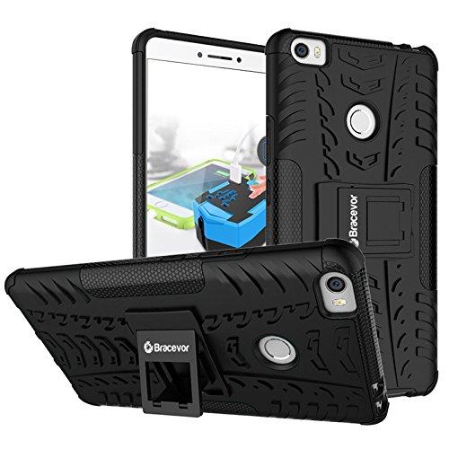 Bracevor Shockproof Xiaomi Mi Max Hybrid Kickstand Back Case Defender Cover – Black