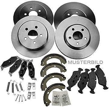 4x Bremsscheiben Bremsbeläge Bremsklötze Bremsbacken Bremsbackensatz Vorne Hinten Auto